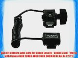 Alzo Off Camera Sync Cord for Canon Eos Ettl - Coiled 24 In - Works with Canon 450D 1000D 400D