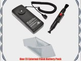 External Flash Battery Pack for Yongnuo 560 II 560 III 565 EX with Lens Cleaning Pen Plus Microfiber