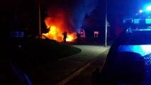 Gap: l'incendie impressionnant d'une voiture filmé au Val du Plan