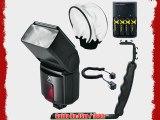 500EX Pro Series Digital DSLR Dedicated Camera Flash Kit for Canon Digital EOS Rebel SL1 T1i