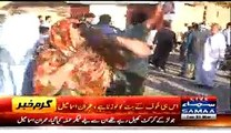 PTI And MQM Workers Face To Face Chanting Slogans In Jinnah Ground Karachi