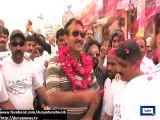 Jamshed Dasti takes to streets on bicycle in campaign against graft, corruption