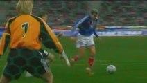 Zinédine Zidane 17ème but | France vs Allemagne (1-0) | 2001