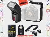 500EX Pro Series Digital DSLR Dedicated Camera Flash PRO Kit for Canon Digital EOS Rebel SL1