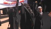 Houthi Women Protest Saudi Airstrikes On Yemen