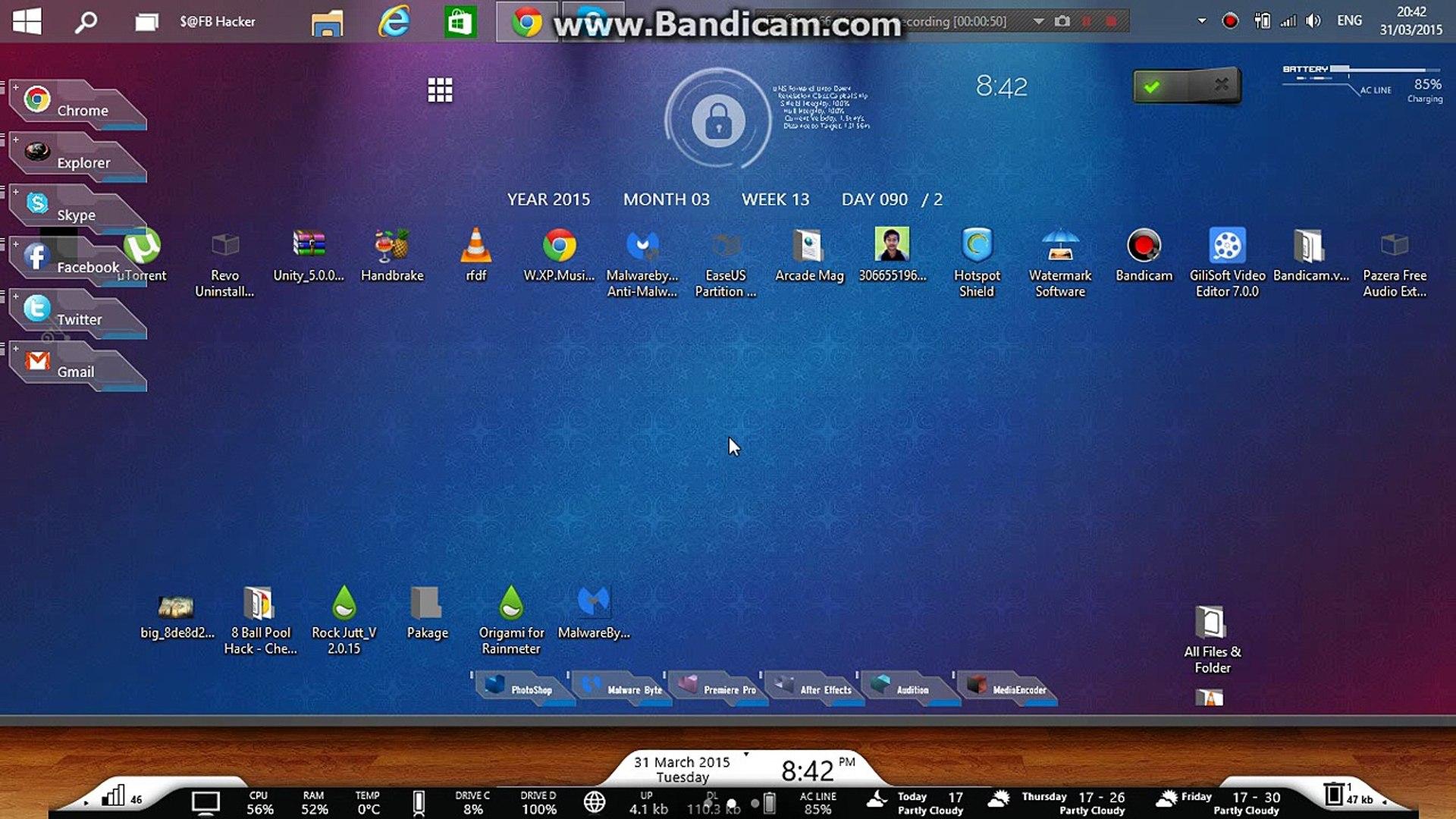 My Desktop Version V2 0 16 - Rainmeter the best Skin 2015 by Rock jutt