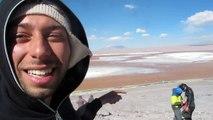 Bolivia Altiplano Laguna Colorada mineral borax