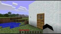 Minecraft: Hatch Drawbridge Security System (Iron Hatches Needed)