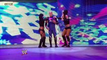 Kelly Kelly and Rosa Mendes (w/ Naomi) vs. Michelle McCool and Layla (w/ Kaval)
