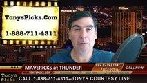 Oklahoma City Thunder vs. Dallas Mavericks Free Pick Prediction NBA Pro Basketball Odds Preview 4-1-2015