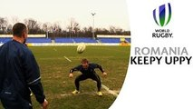 Rugby players show football talent