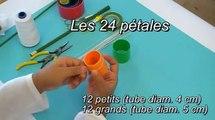 Fabrication d'une pivoine en collant / Nylon Peony