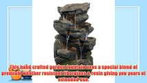 Bear Creek Waterfall Fountain: Towering Rock Outdoor Water Feature for Gardens & Patios. Hand-crafted