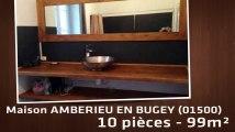 A vendre - Maison/villa - AMBERIEU EN BUGEY (01500) - 10 pièces - 99m²