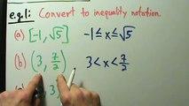 Intermediate Algebra - Interval Notation - Example 1