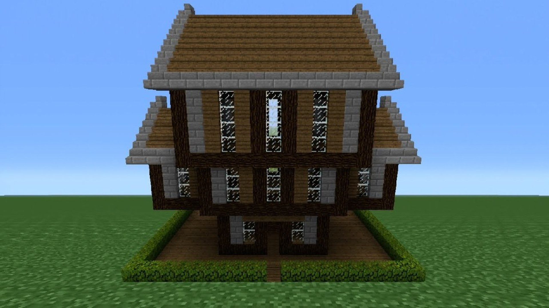 Minecraft Tutorial How To Make A Stone Wood House 2 Video Dailymotion