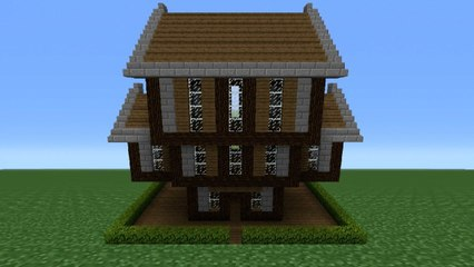 Minecraft Tutorial How To Make A Stone Wood House 2 Video
