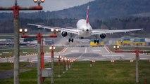 Terrifying plane landing in Zurich : LSZH Crosswind Landings