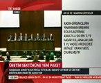 Başbakan Ahmet Davutoğlu Üretim Sektörüne Yeni Ekonomi Paketini Açıkladı