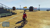 GTA 5 Online Funny Moments - BMX Bike Fun, Wack-a-Bike Mini Game, Chipotle! (Gmod Transition Goof!