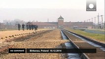 David Cameron pays homage to the victims of the Birkenau extermination camp - no comment