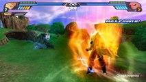 Majin Vegeto Super Saiyan VS Kid Buu (SSJ Goku and Majin Vegeta potaras fusion in DBZ Tenkaichi 3)