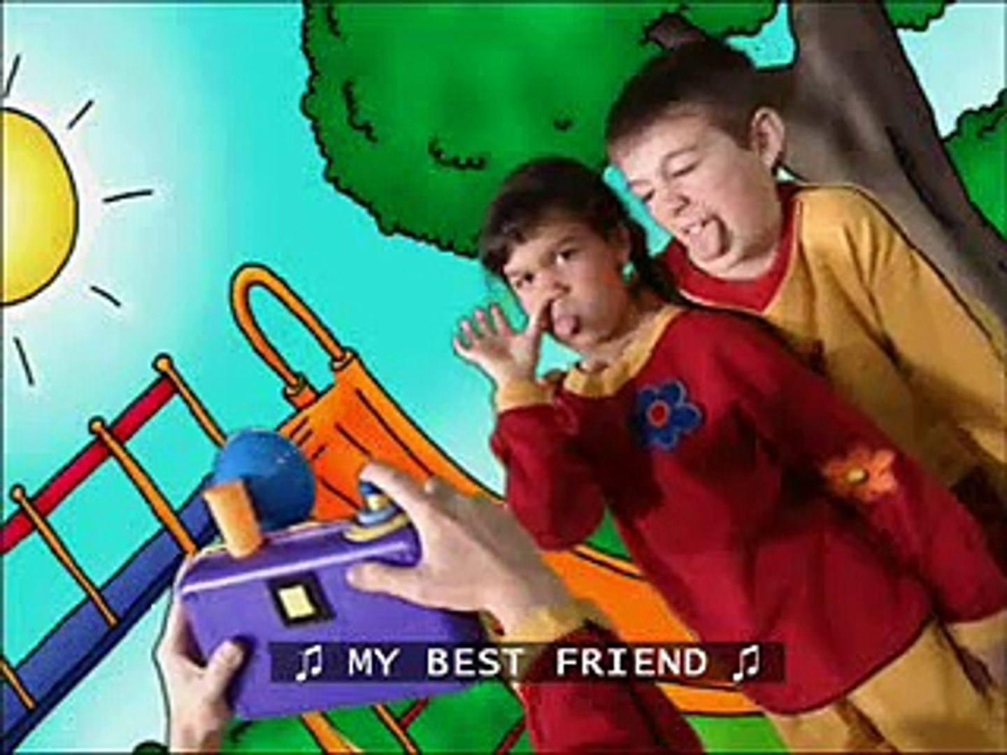 Caillou's My best friend song with subtitles
