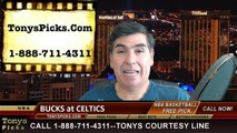 Boston Celtics vs. Milwaukee Bucks Free Pick Prediction NBA Pro Basketball Odds Preview 4-3-2015