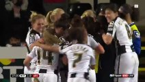 Incredible trick free-kick in Women's football match   BT Sport