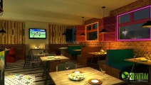 3D Interior Rendering|3d interior visualization & Animation for 3d Bar and Restaurant