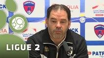 Conférence de presse Clermont Foot - Angers SCO (2-0) : Corinne DIACRE (CF63) - Stéphane MOULIN (SCO) - 2014/2015