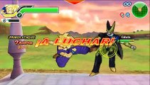 DBZ Tenkaichi tag team [PSP] - Gohan vs Cell [Gameplay]