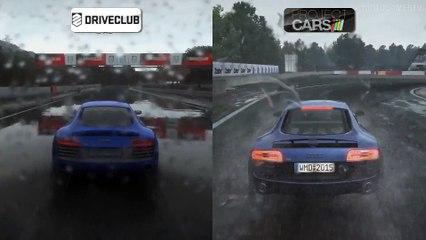 DriveClub vs Project CARS Build 961 - Rain Weather Comparison de Project Cars
