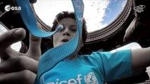 """Samantha Cristoforetti canta """"Imagine"""" dallo spazio per l'UNICEF"""