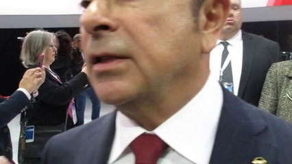 Nissan CEO Carlos Ghosn NYC show in Reporter SCRUM on Maxima and 10% USA Market