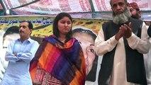 PPP-SB organizer Feroza Lashari present at Garhi Khuda Bux Bhutto with Muhtarma Ghanwa Bhutto.