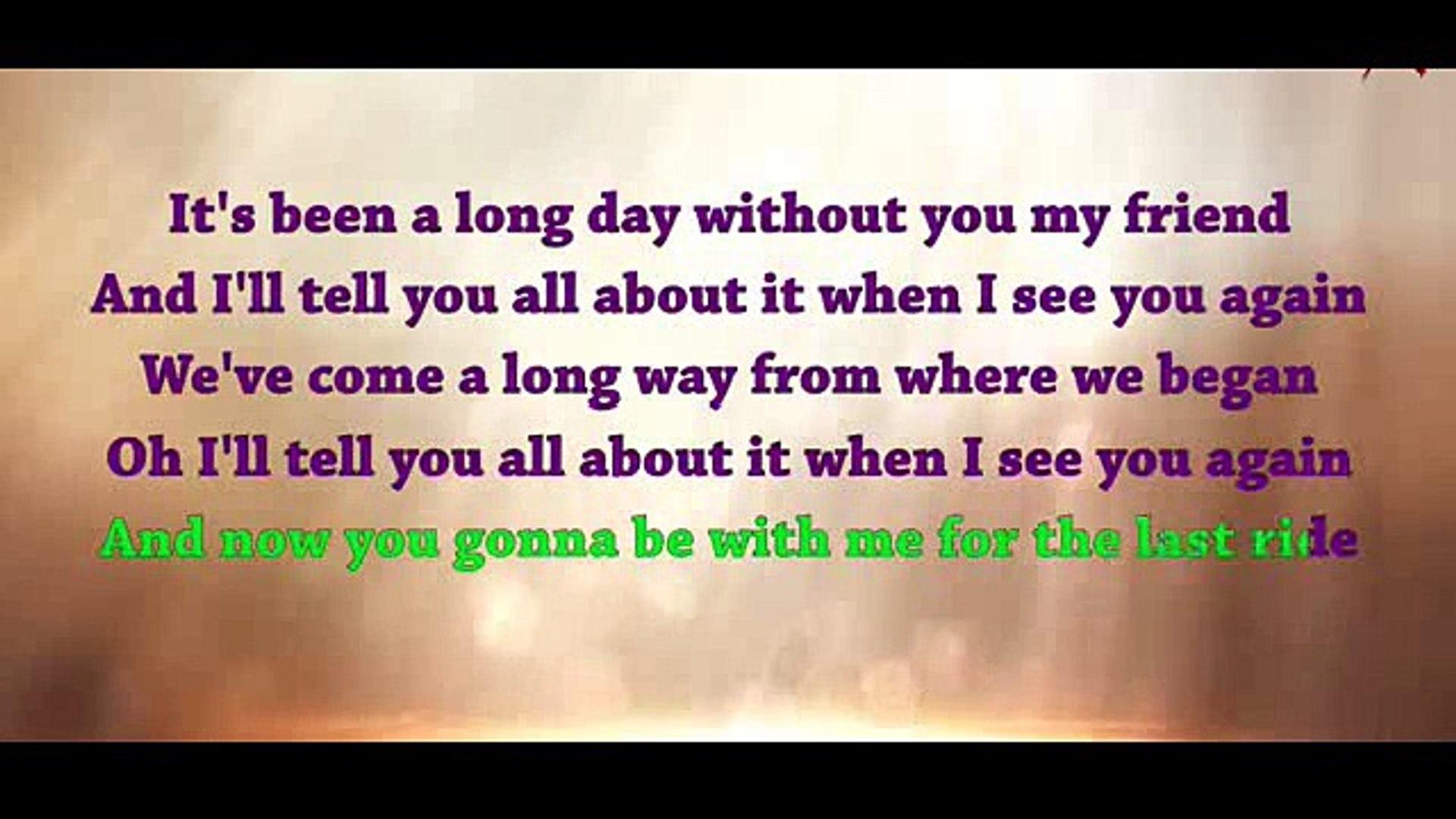 See You Again Charlie Puth Lyrics Karaoke idea gallery