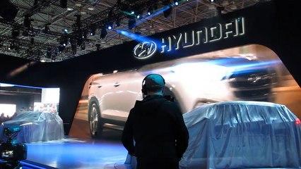 Hyundai 2016 Tuscon Reveal at the 2015 NYC Auto Show --Bob Giles NewCarNews.TV