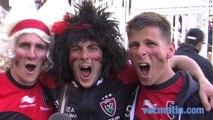 Les supporters toulonnais ravis de la victoire du RCT sur les Wasps