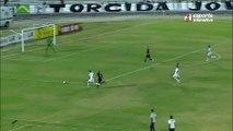 PERDEU! Depois de bela jogada, Rafael Oliveira desperdiçou a chance do terceiro para o Botafogo-PB