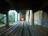 CalTrains passing in the 22nd Street tunnel (2004)