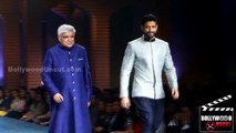 Farhan Akhtar & Javed Akhtar Walks The Ramp For MIJWAN