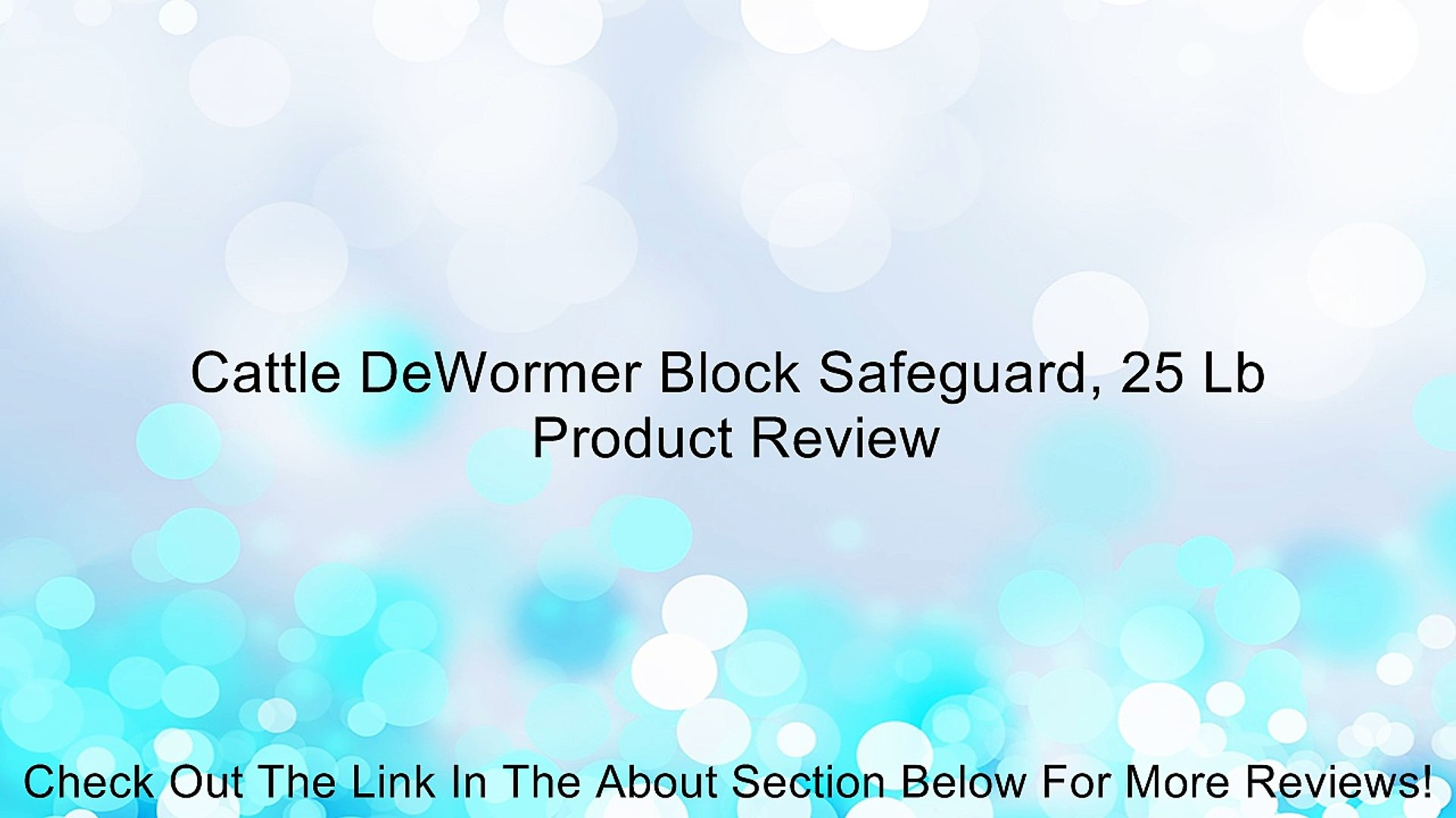 Cattle Dewormer Block Safeguard 25 Lb Review Video Dailymotion