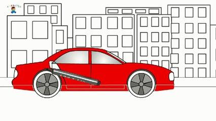 Eğitici çizgi Film Boyama Kitabı Araba Watch Video Online