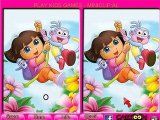 Dora Game - Dora 6 Differences Game