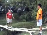 Fat Mexican Kid Falls Into a River! (Funny Video!)