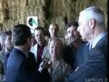 Visite de Nicolas Sarkozy en Montagne