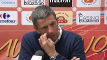 Réaction de Thierry Laurey après Gazélec Ajaccio - Stade Brestois 29