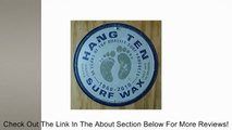 Hang Ten Surf Wax Surfing Round Distressed Retro Vintage Tin Sign Review