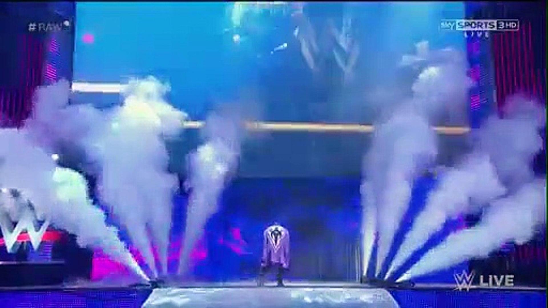 Adrian Neville VS Seth Rollins - RAW 6th APRIL 2015